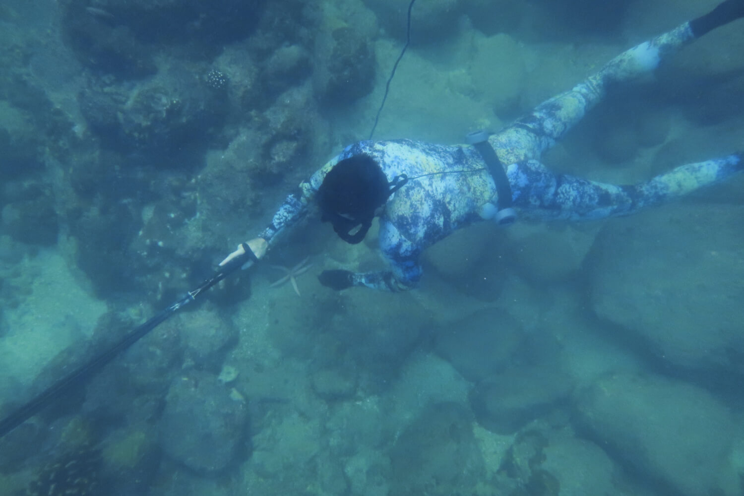Spearfishing with a float line vs reel gun